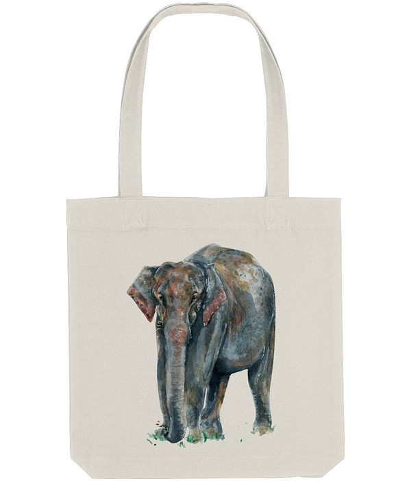 Asian Elephant Tote Bag | Pigments by Liv