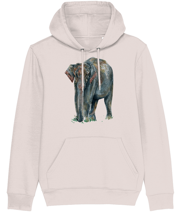 Candy Pink Asian Elephant Hoodie | Pigments by Liv