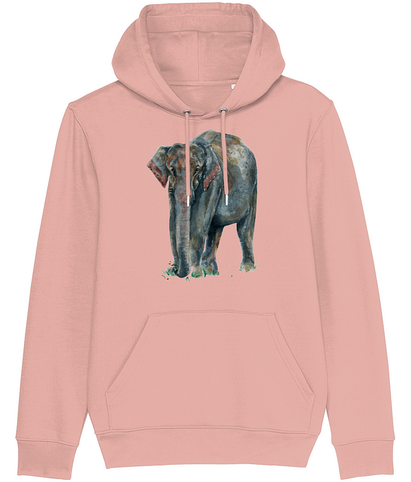 Canyon Pink Asian Elephant Hoodie | Pigments by Liv