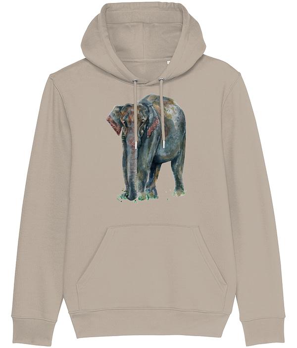 Desert Dust Asian Elephant Hoodie | Pigments by Liv