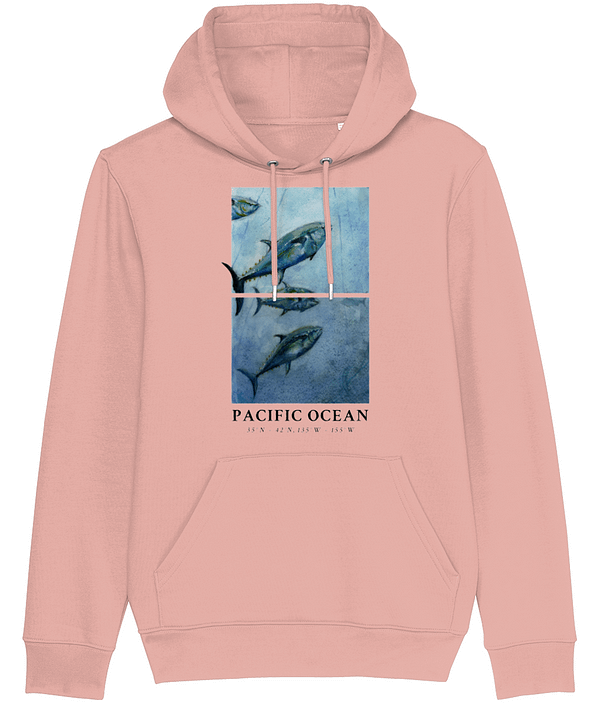 Canyon Pink Bluefin Tuna Hoodie   Pigments by Liv