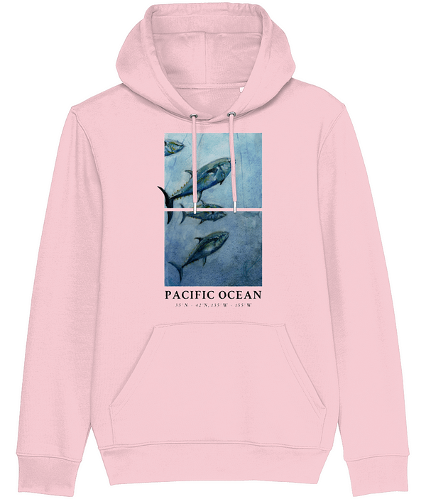 Cotton Pink Bluefin Tuna Hoodie   Pigments by Liv