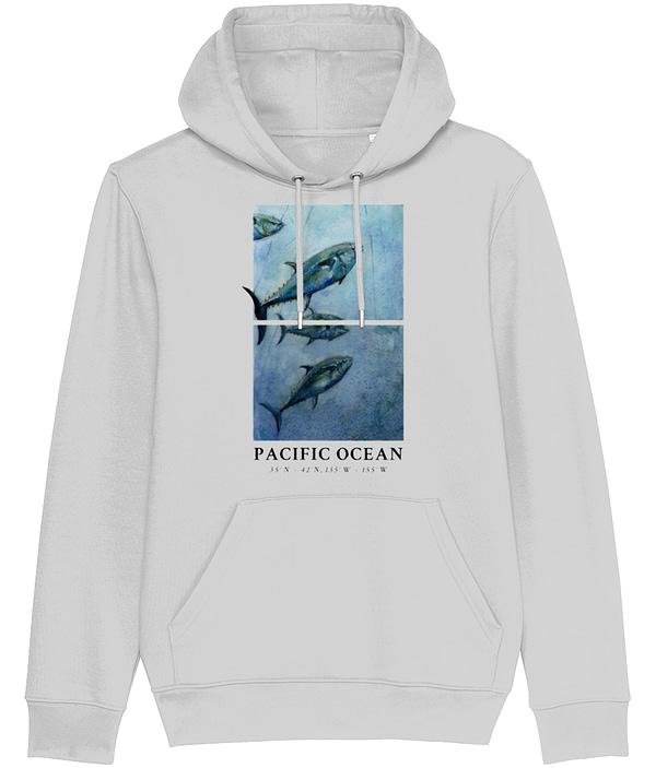 Heather Grey Bluefin Tuna Hoodie   Pigments by Liv