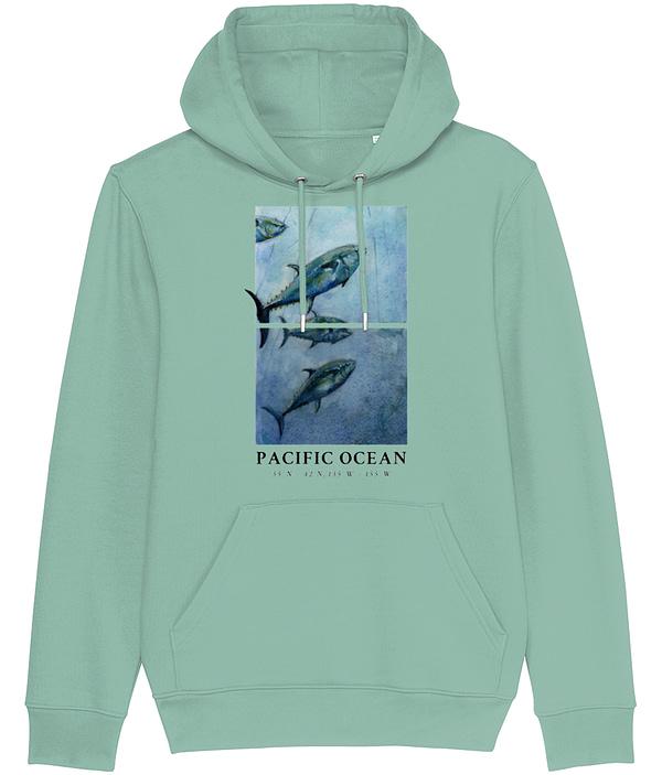 Heather Green Bluefin Tuna Hoodie   Pigments by Liv