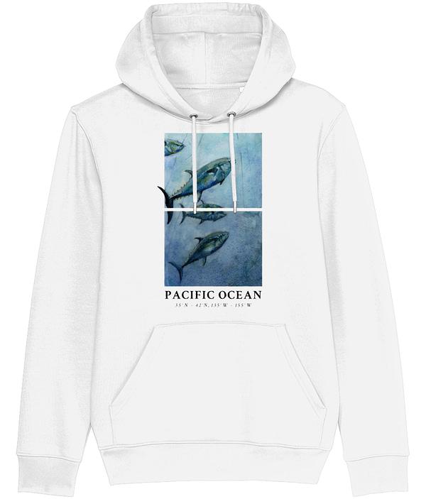 White Bluefin Tuna Hoodie   Pigments by Liv