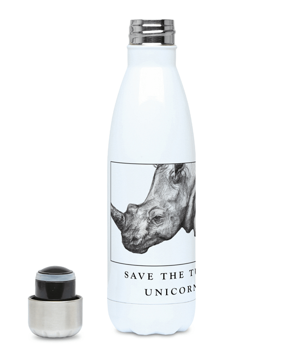 Rhino Bottle | Save the Tubby Unicorns | Pigments by Liv