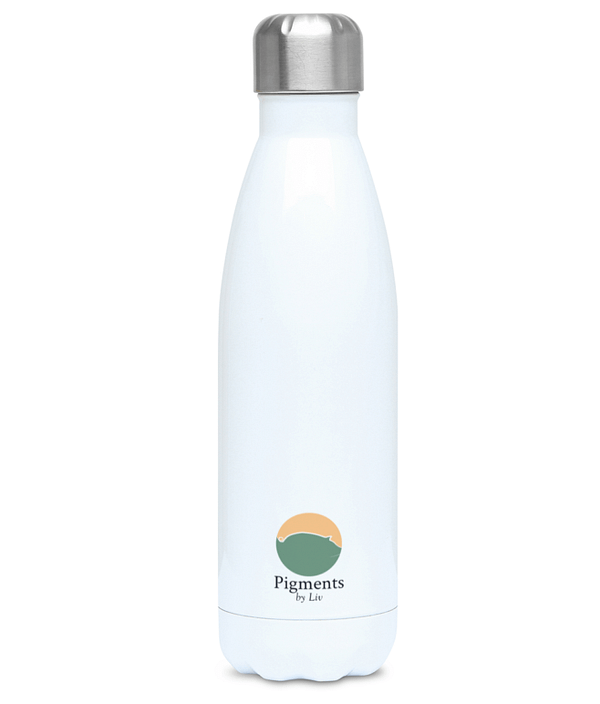 Rhino Water Bottle | Save the Tubby Unicorns Reusable Bottle | Pigments by Liv