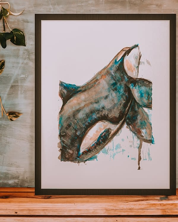 Orca Animal Art Print | Pigments by Liv
