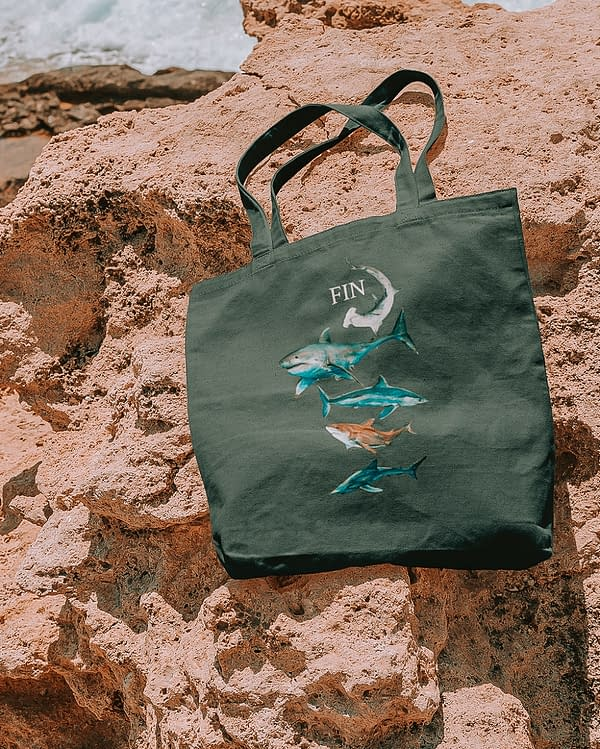 Shark Recycled Tote Bag | Pigments by Liv
