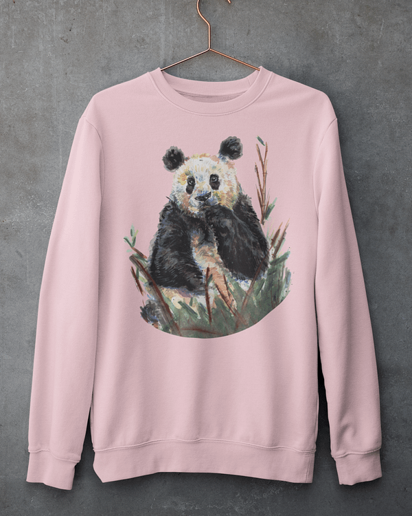 Pink Panda Sweatshirt | Pigments by Liv