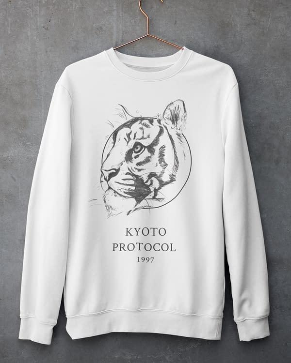 White Tiger Sweatshirt | Pigments by Liv