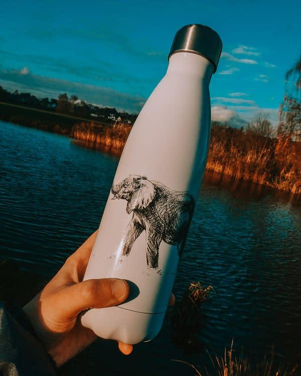 Reusable Elephant Water Bottle | Pigments by Liv