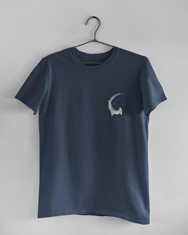 Denim Blue Hammerhead Shark T-Shirt | Pigments by Liv