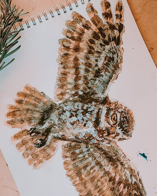Owl Art Print | Pigments by Liv