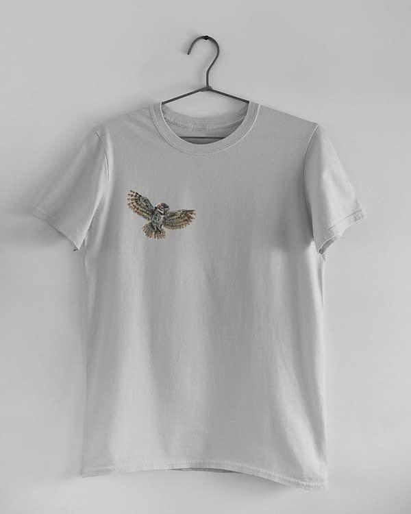Light Grey Owl T-Shirt | Pigments by Liv