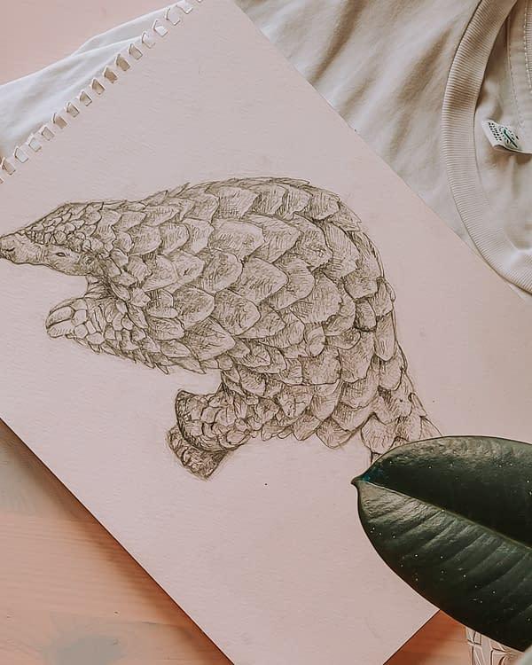 Pangolin Art Print | Pigments by Liv
