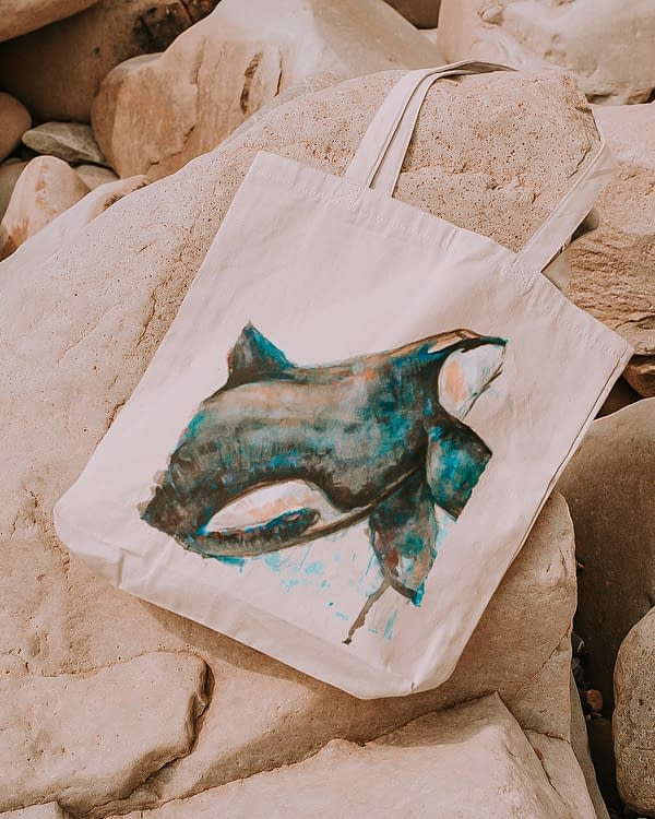 Orca Tote Bag | Pigments by Liv