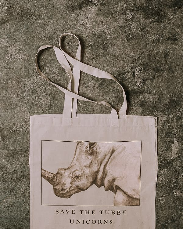 Rhino Recycled Tote Bag | Pigments by Liv