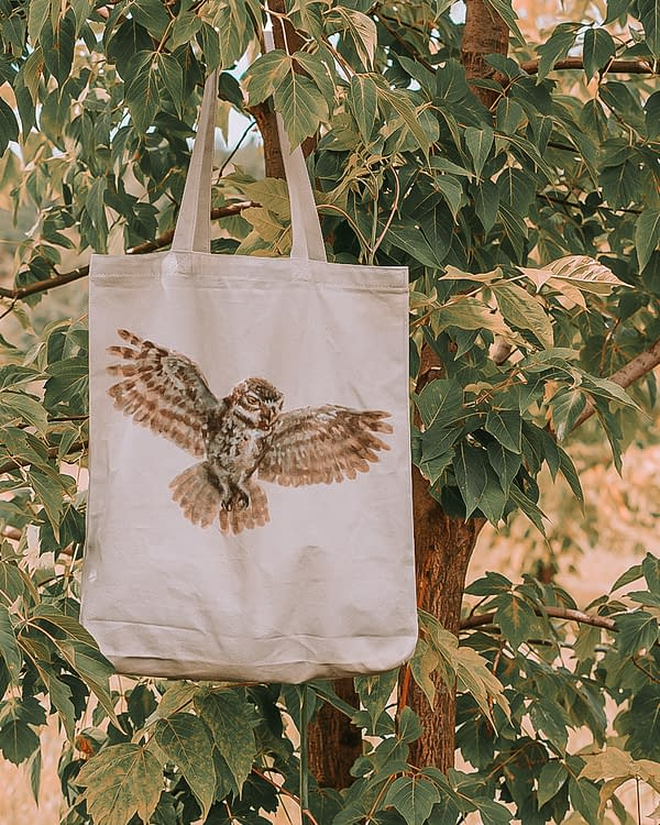 Owl Recycled Tote Bag | Pigments by Liv