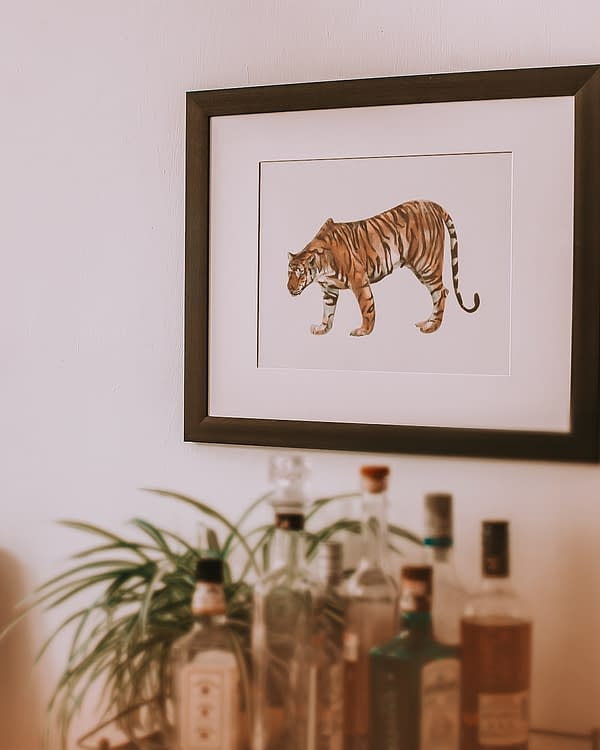 Tiger Shark Animal Art Print | Pigments by Liv