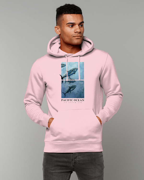 Cotton Pink Bluefin Tuna Hoodie | Pigments by Liv