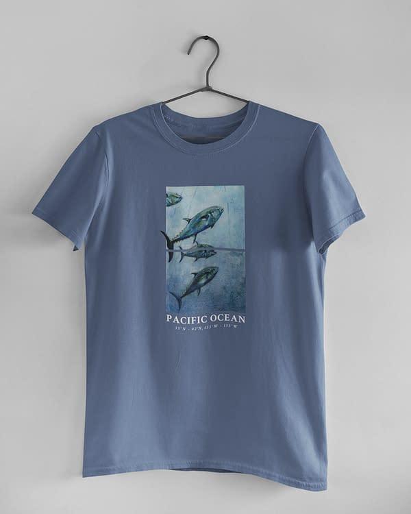 Faded Denim Bluefin Tuna Tee | Pigments by Liv