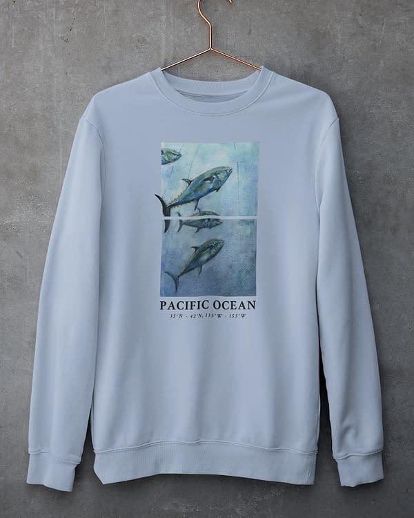 Sky Blue Bluefin Tuna Sweatshirt | Pigments by Liv