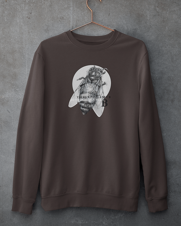 Deep Chocolate Honey Bee Sweatshirt | Pigments by Liv
