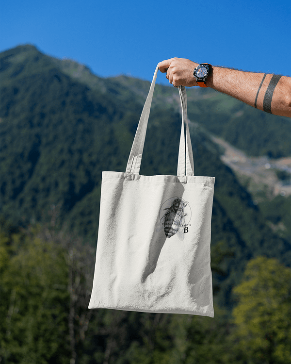 Recycled Honey Bee Tote Bag | Pigments by Liv