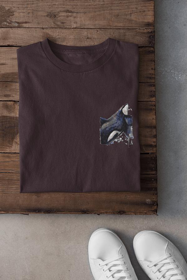 Eggplant pocket-sized orca t-shirt