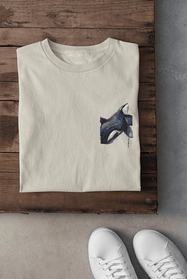 Ecru pocket-sized orca t-shirt