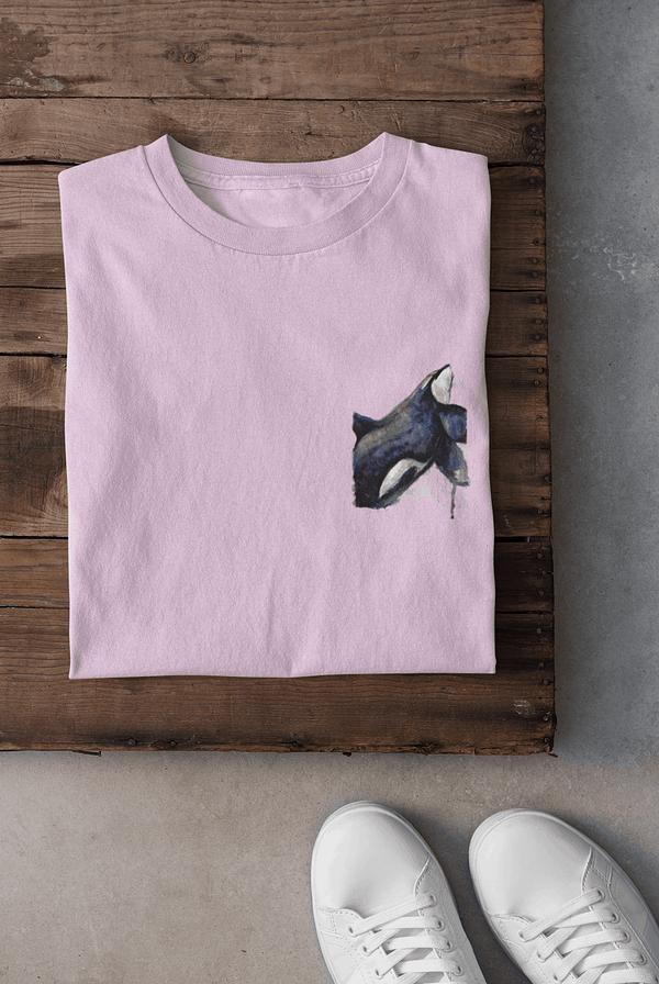 Sweet lilac pocket-sized orca t-shirt