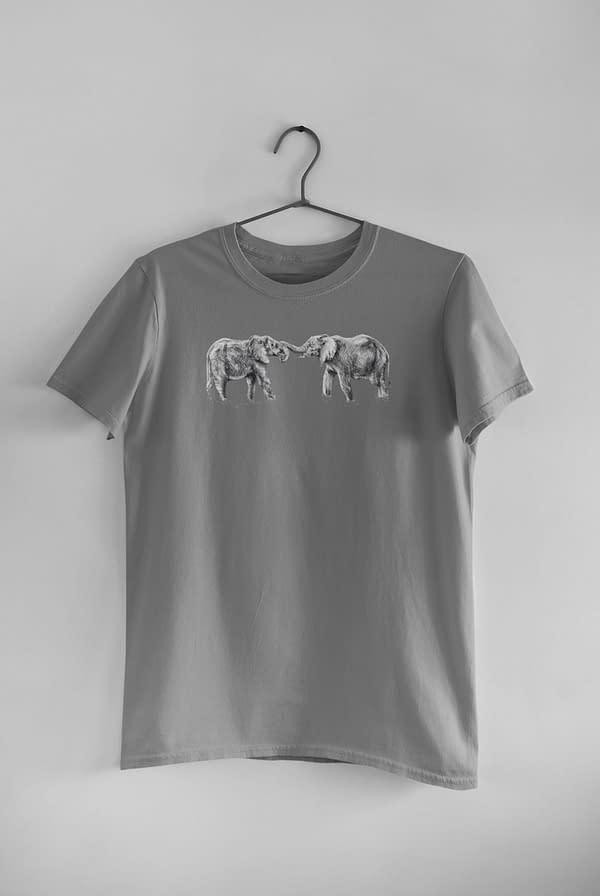 Dark Heather Elephant T-Shirt | Pigments by Liv