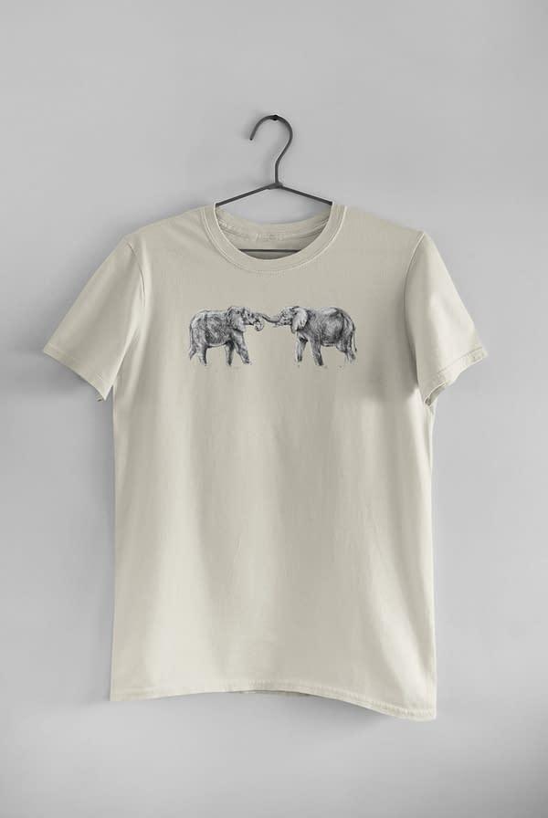 Ecru Elephant T-Shirt | Pigments by Liv