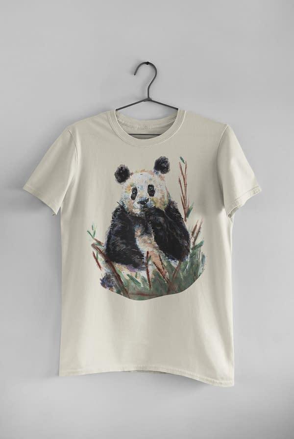 Ecru Panda T-Shirt | Pigments by Liv