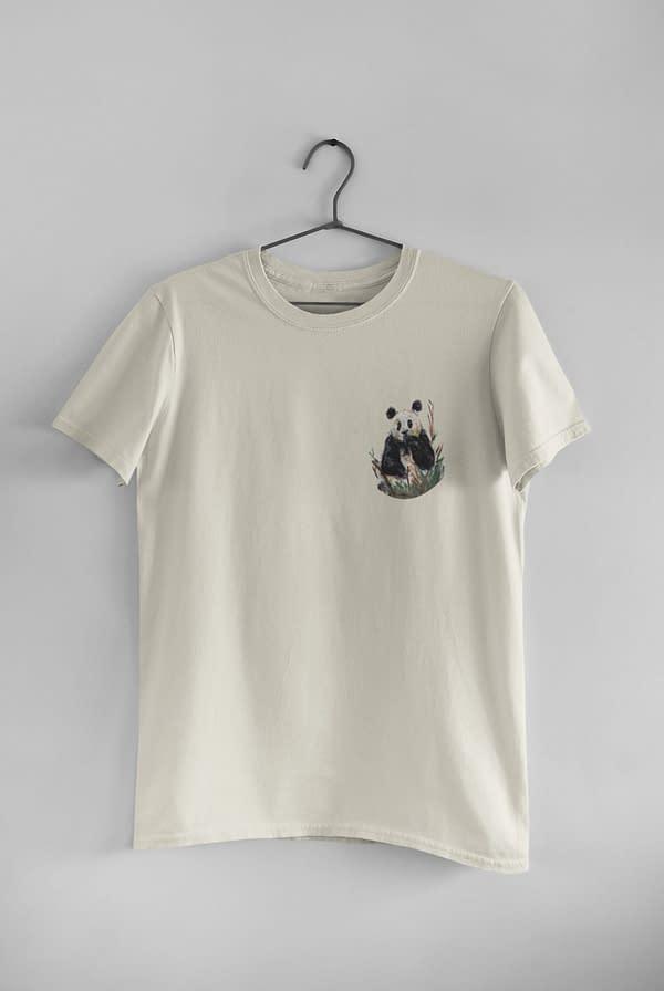 Ecru Pocket Panda Tee   Pigments by Liv