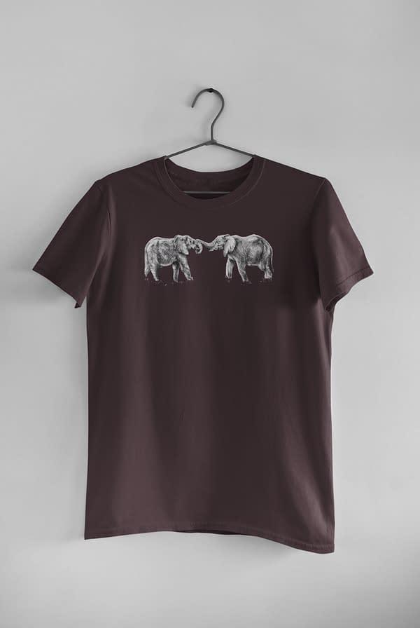 Eggplant Elephant T-Shirt | Pigments by Liv