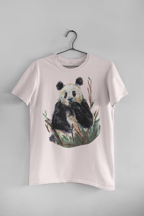 Misty Pink Panda T-Shirt | Pigments by Liv