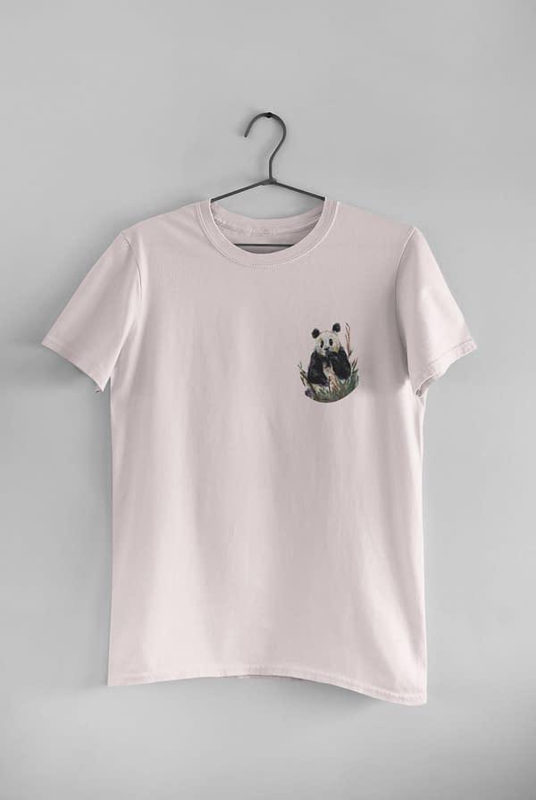 Misty Pink Pocket Panda Tee   Pigments by Liv
