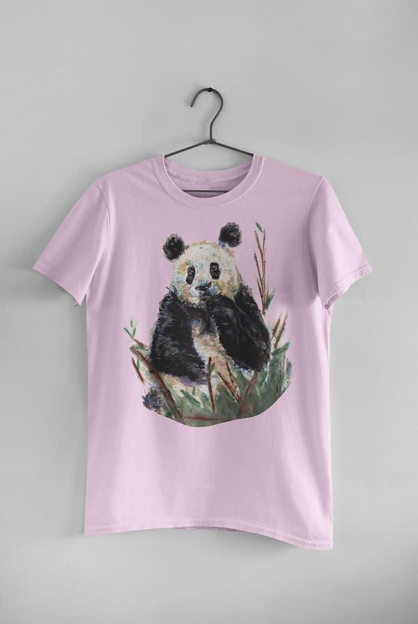 Sweet Lilac Panda T-Shirt | Pigments by Liv