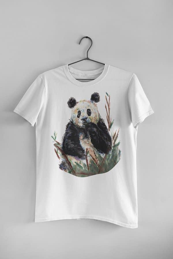 White Panda T-Shirt | Pigments by Liv
