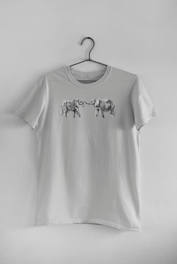 Light Grey Elephant T-Shirt | Pigments by Liv