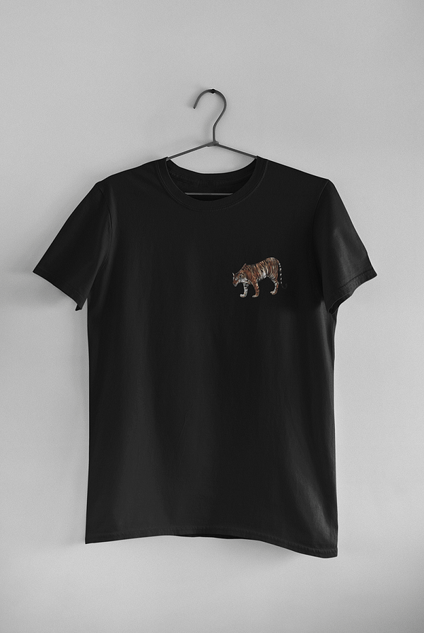 Black Limited Edition Tiger T-Shirt | Pigments by Liv