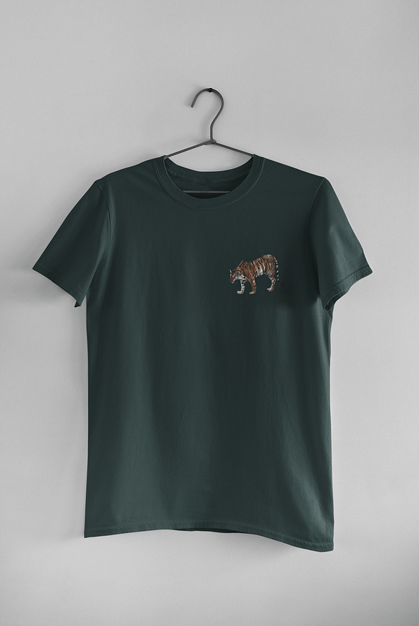 Bottle Green Limited Edition Tiger T-Shirt | Pigments by Liv
