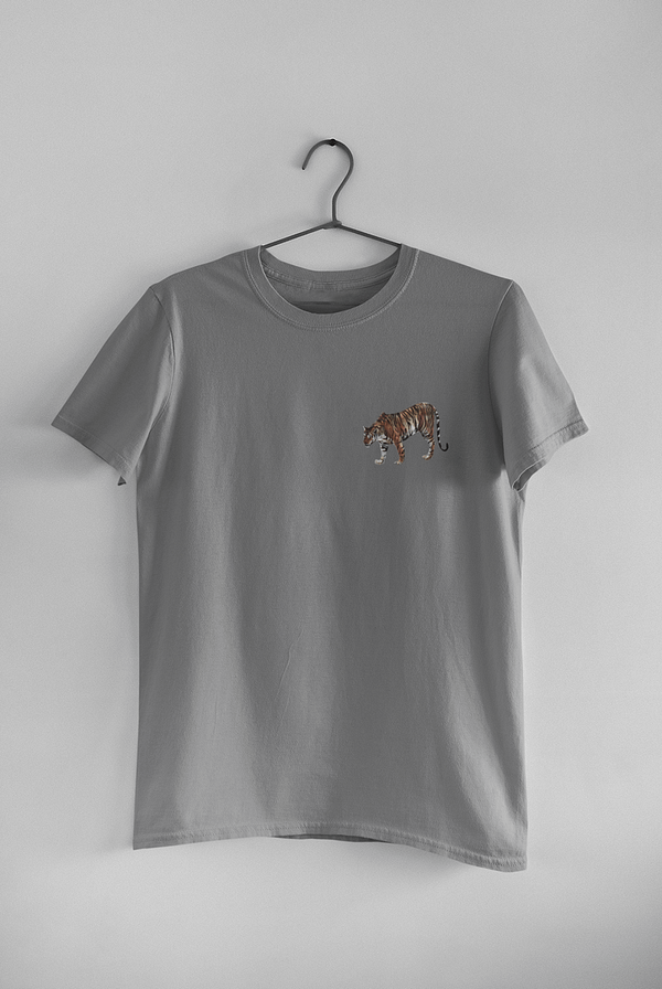 Dark Heather Grey Limited Edition Tiger T-Shirt | Pigments by Liv