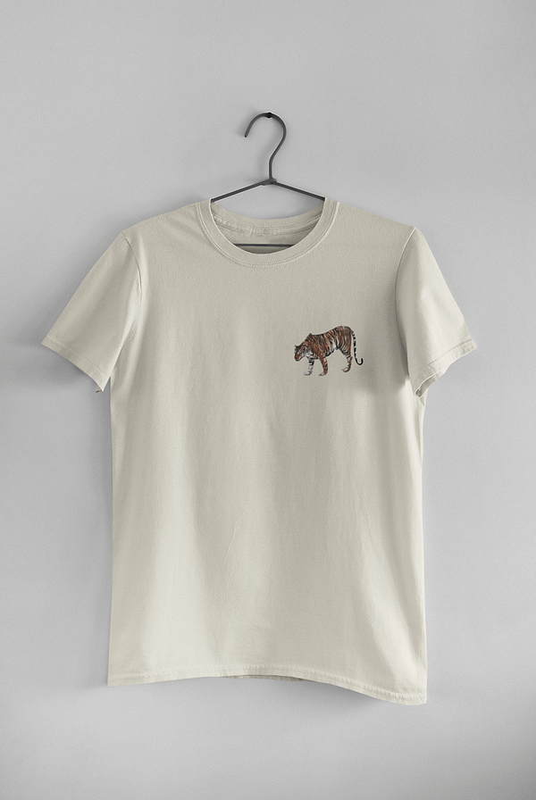 Ecru Limited Edition Tiger T-Shirt | Pigments by Liv
