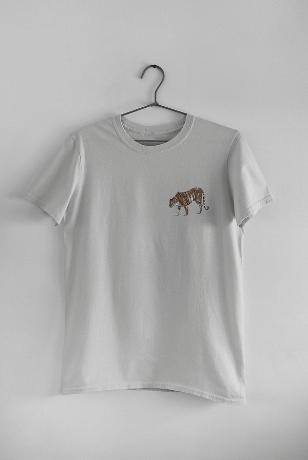 Light Grey Limited Edition Tiger T-Shirt | Pigments by Liv