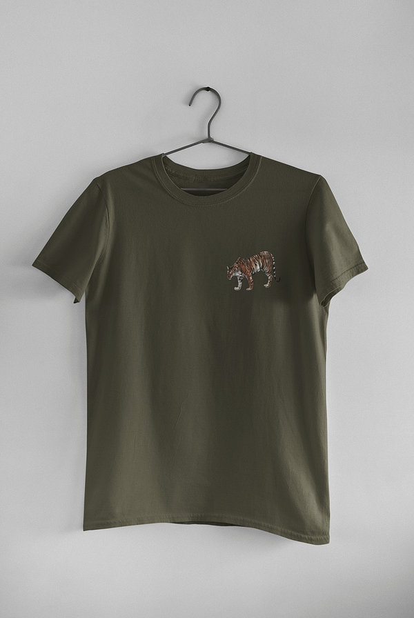 Moss Green Limited Edition Tiger T-Shirt | Pigments by Liv