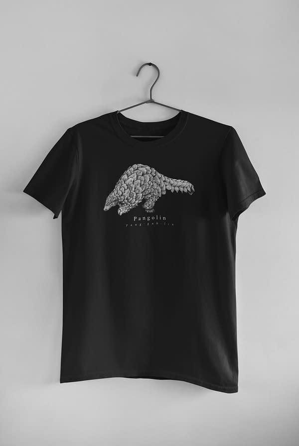 Black Pangolin T-Shirt | Pigments by Liv