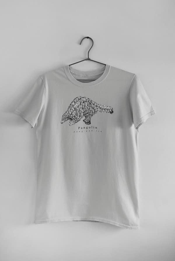 Light Grey Pangolin T-Shirt | Pigments by Liv